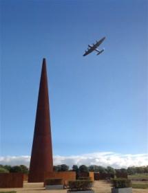 BBMF Lancaster over IBCC Spire - reduced
