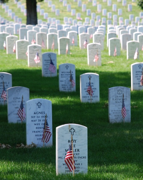 Graves at Arlington Cemetery on Memorial Day - Wikipedia