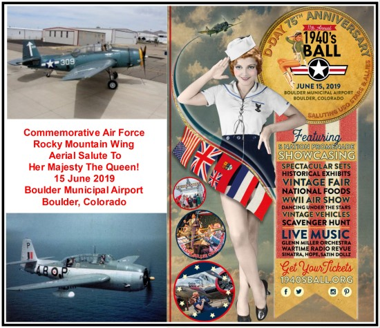 Queen's CAF Salute Flight & 1940s Ball poster