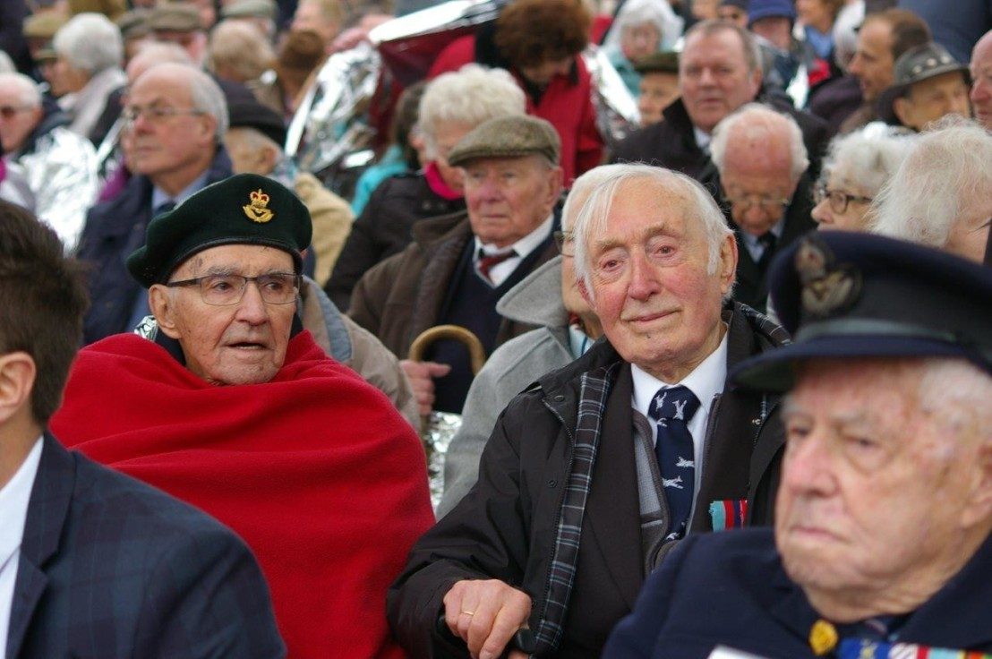 WW2 Bomber Command veterans at IBCC opening 12 April 2018 - Halifax 57 Rescue Canada