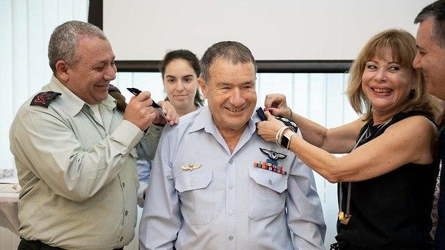 Giora Epstein being promoted to rank of brigadier-general - IDF Spokesman Unit photo