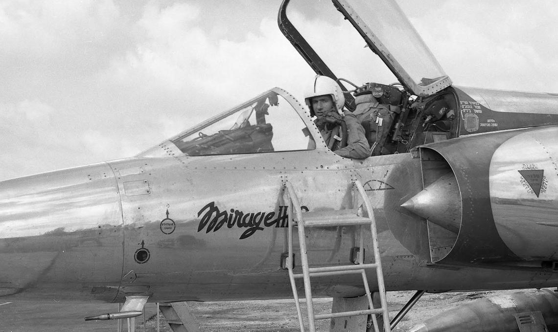 Giora Epstein in Mirage III-C cockpit